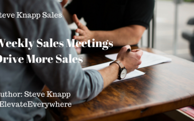 Weekly Sales Meetings Drive More Sales