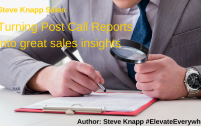 Turning Post Call Reporting into great sales insights