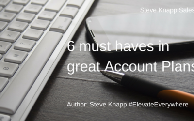 "6 ""must haves"" in great Account Plans"