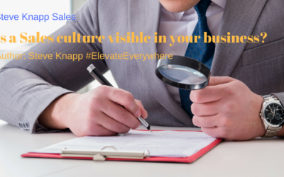 How OBVIOUS is it to your customers if your Sales Culture is right or wrong?