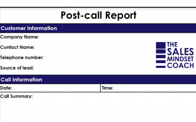 Post-call report template