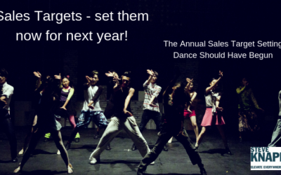 Sales Targets – set them now for next year!