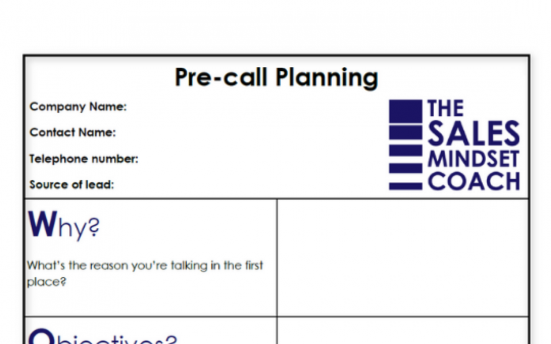 Use Pre-call Planning to Deliver Sales Outcomes
