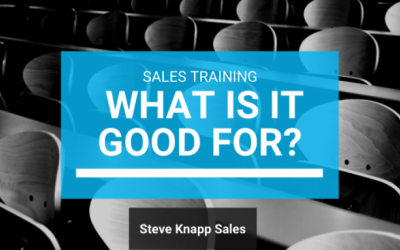 Sales Training: What is it Good For?