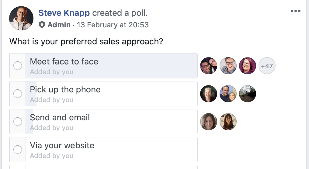 The Sales Mindset Group Poll Results