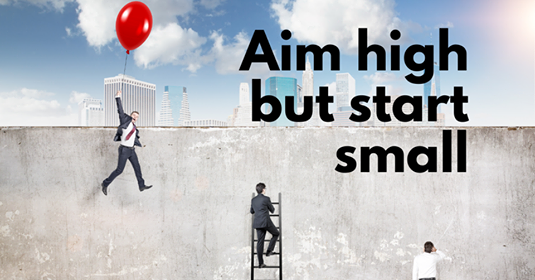 Aim High But Start Small.